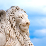 Winged lion head
